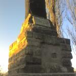 Gedenkstein an Kriegsgefangenenlager bei Quedlinburg